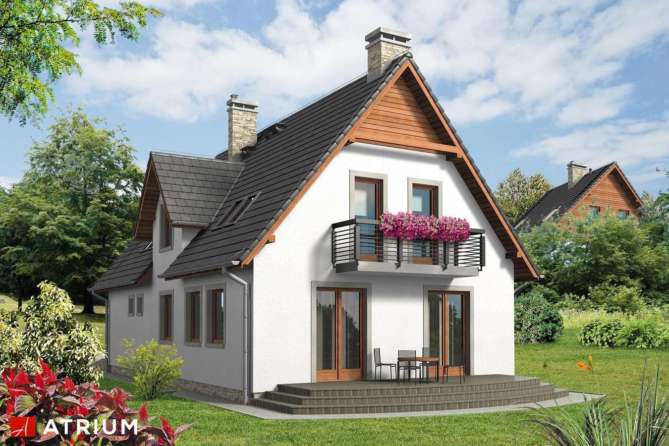 Projekty domów - Projekt domu z poddaszem JAWOR BIS - wizualizacja 2
