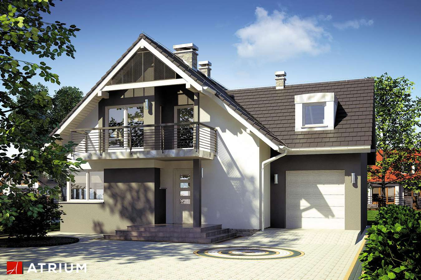 Projekty domów - Projekt domu z poddaszem EKSPERT II - wizualizacja 1