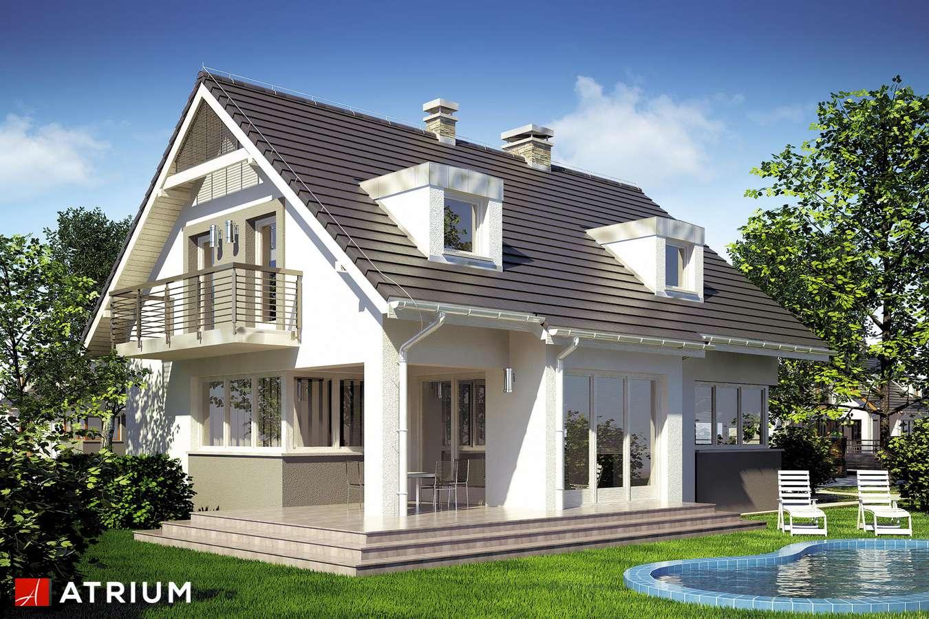 Projekty domów - Projekt domu z poddaszem EKSPERT II - wizualizacja 2