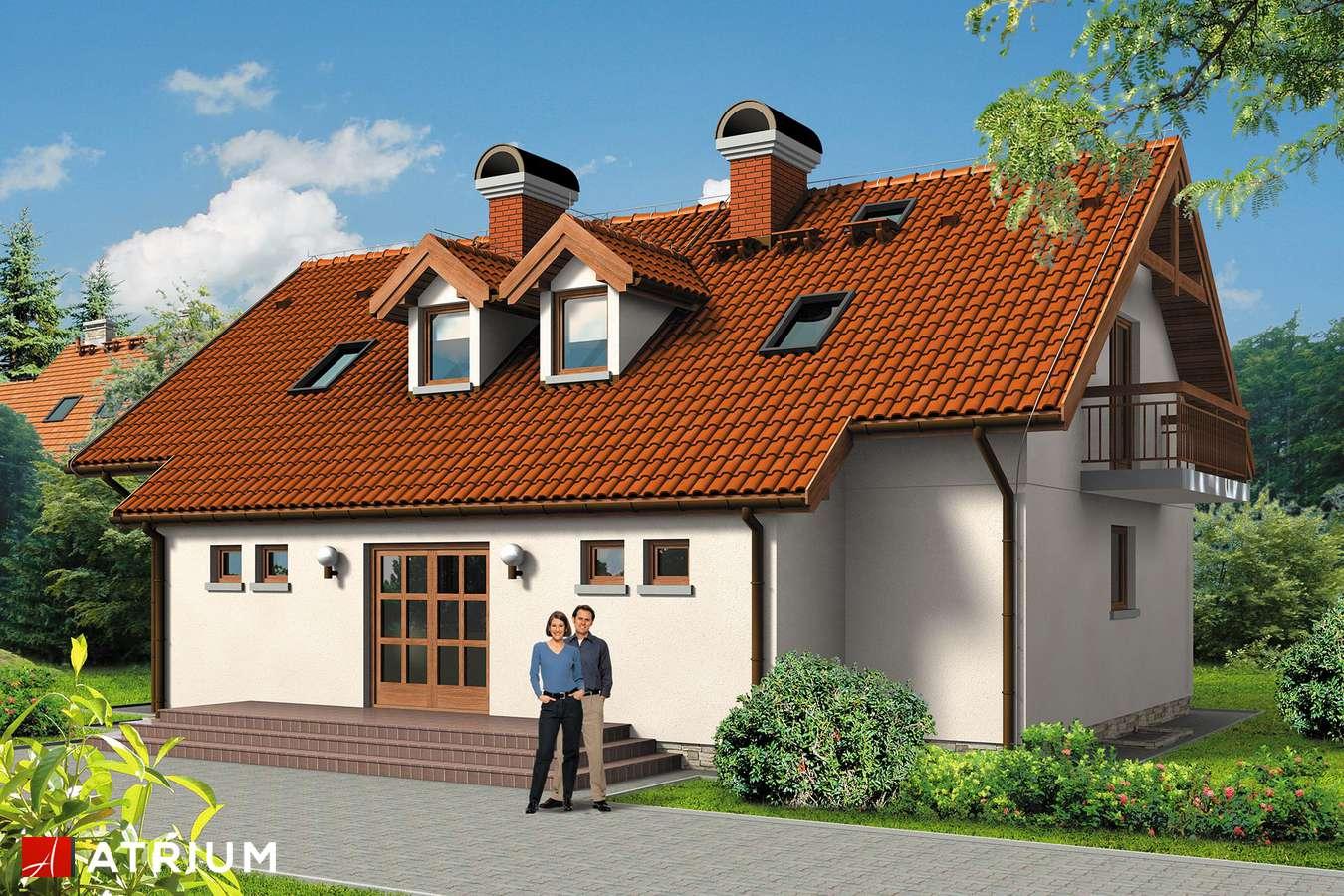 Projekty domów - Projekt domu z poddaszem DWOJACZEK II - wizualizacja 1