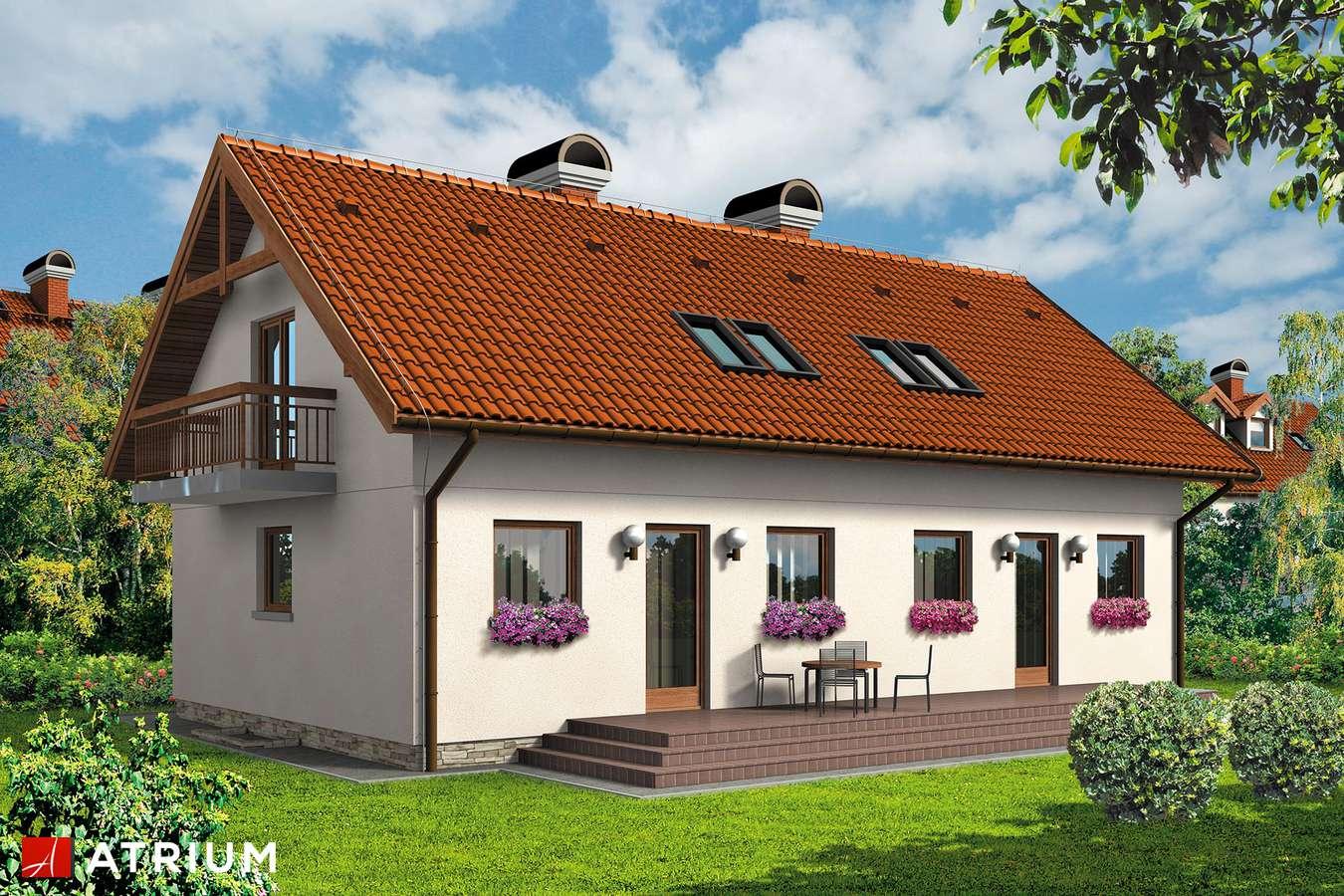 Projekty domów - Projekt domu z poddaszem DWOJACZEK II - wizualizacja 2
