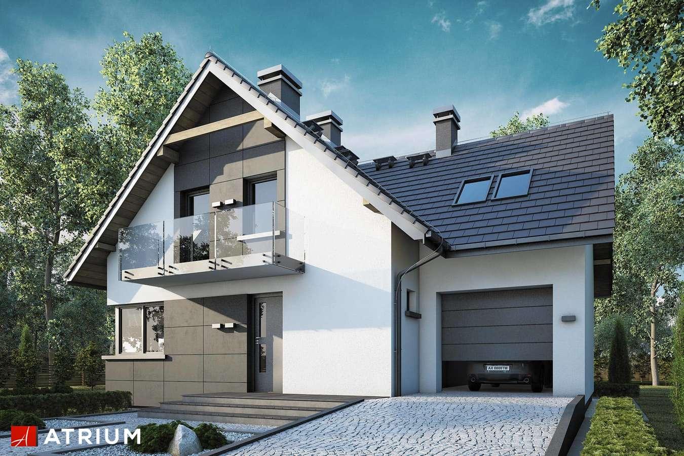 Projekty domów - Projekt domu z poddaszem FORTUNA - wizualizacja 1