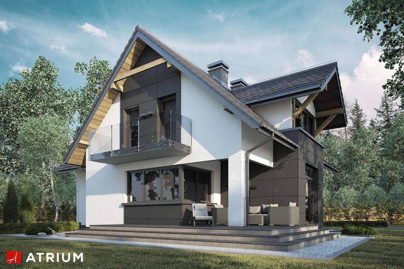 Projekty domów - Projekt domu z poddaszem FORTUNA - wizualizacja 2