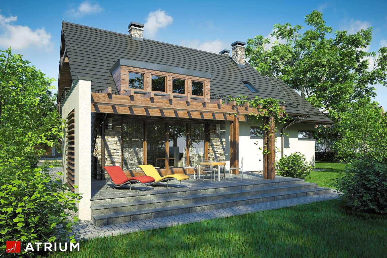 Projekty domów - Projekt domu z poddaszem ASTON - wizualizacja 2
