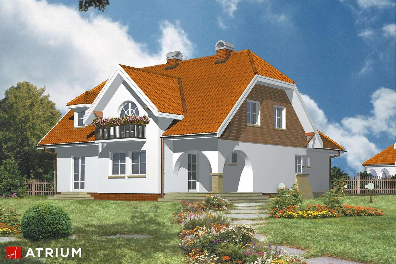 Projekty domów - Projekt domu z poddaszem ARKADIA - wizualizacja 1