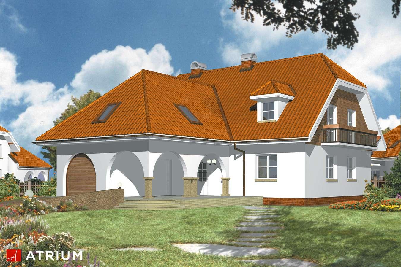 Projekty domów - Projekt domu z poddaszem ARKADIA - wizualizacja 2