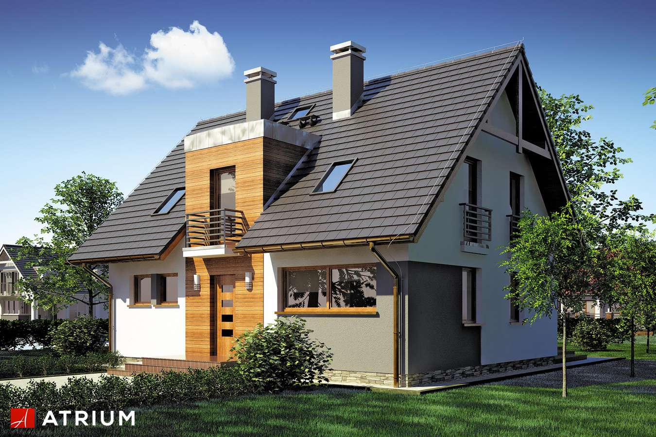 Projekty domów - Projekt domu z poddaszem LIWIA - wizualizacja 1