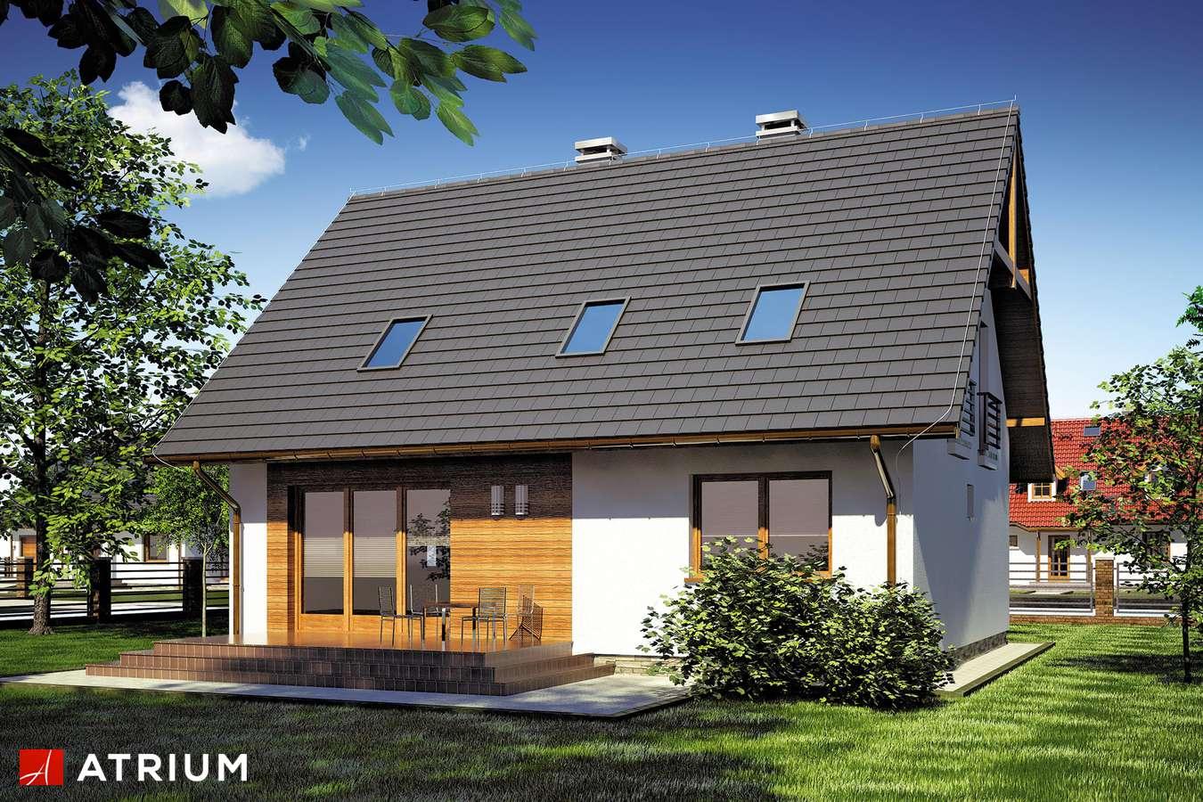 Projekty domów - Projekt domu z poddaszem LIWIA - wizualizacja 2
