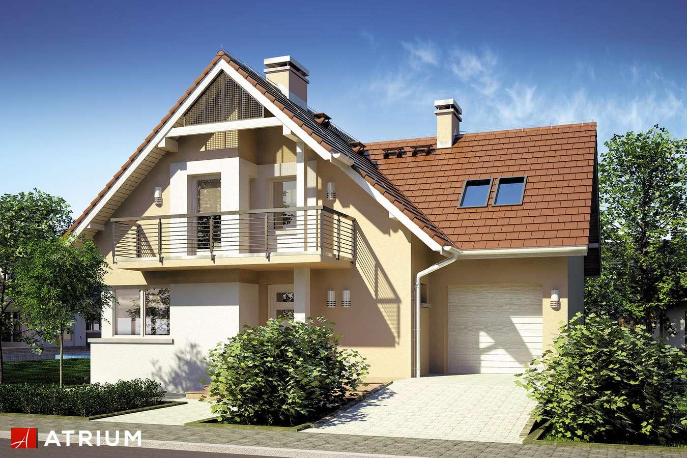 Projekty domów - Projekt domu z poddaszem FORTUNA II - wizualizacja 1