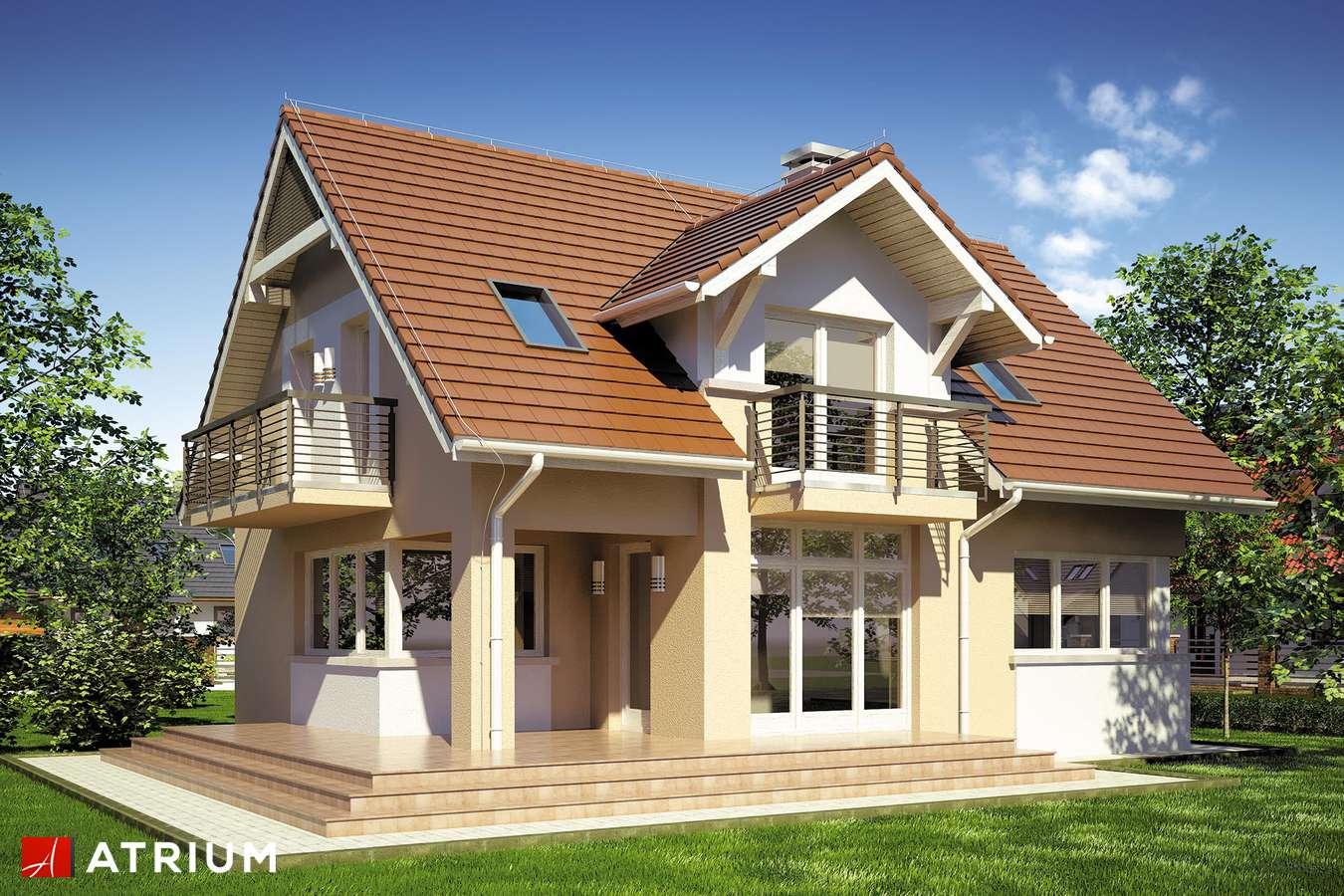 Projekty domów - Projekt domu z poddaszem FORTUNA II - wizualizacja 2
