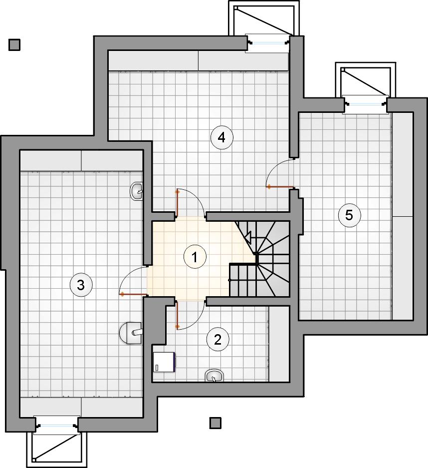 Rzut piwnicy - projekt Fortuna II