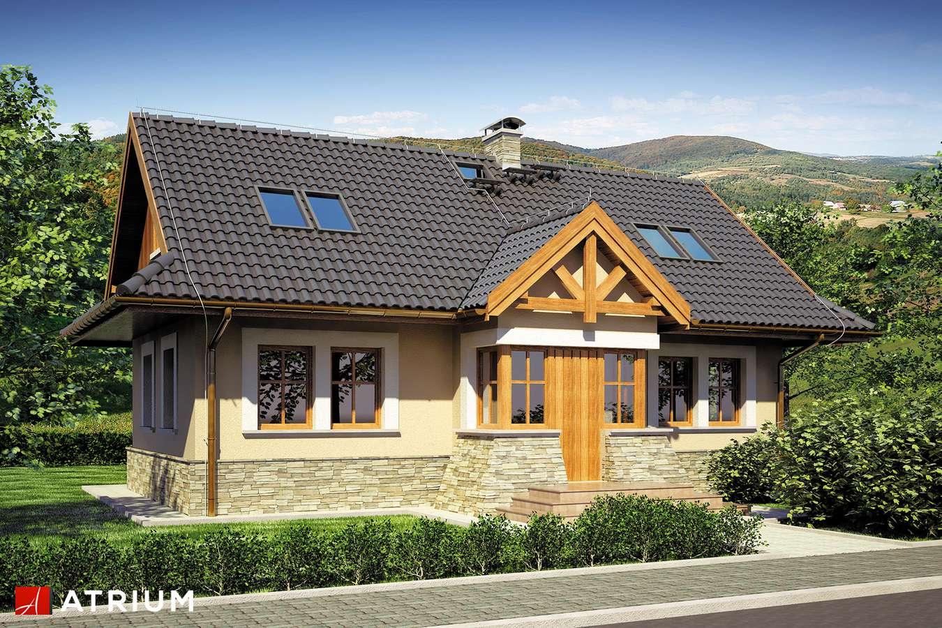 Projekty domów - Projekt domu z poddaszem MAGURA - wizualizacja 1