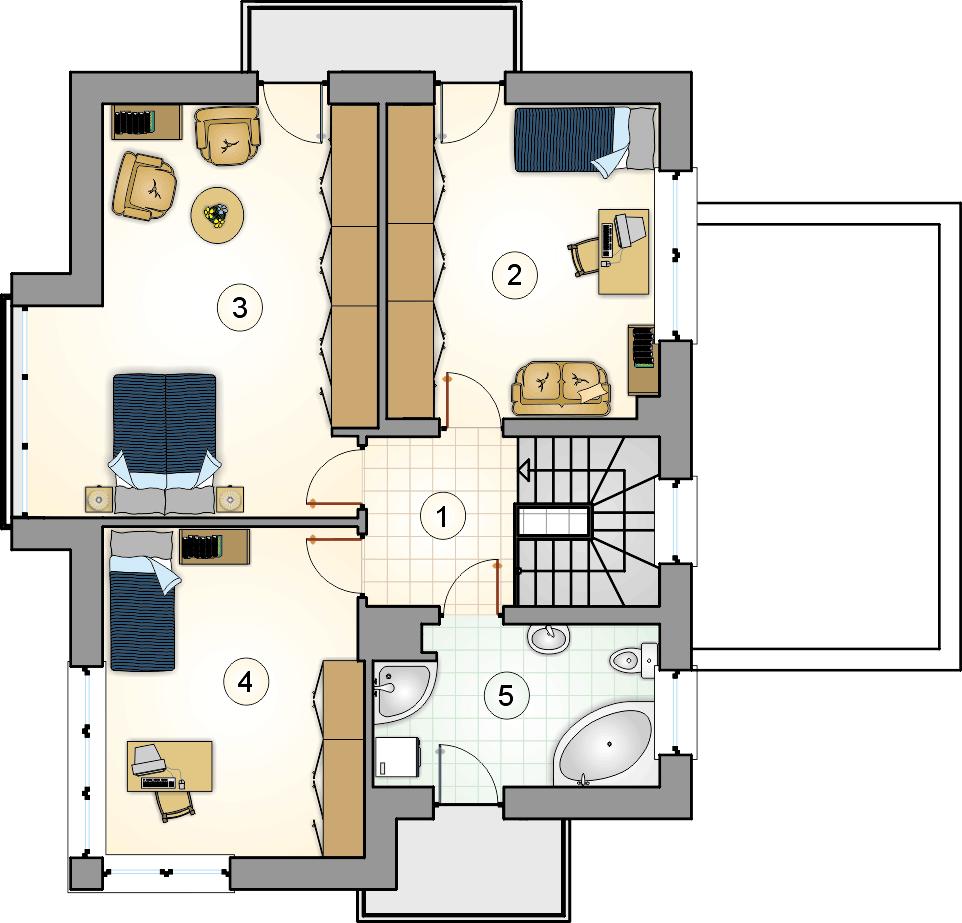 Rzut piętra - projekt Alfa