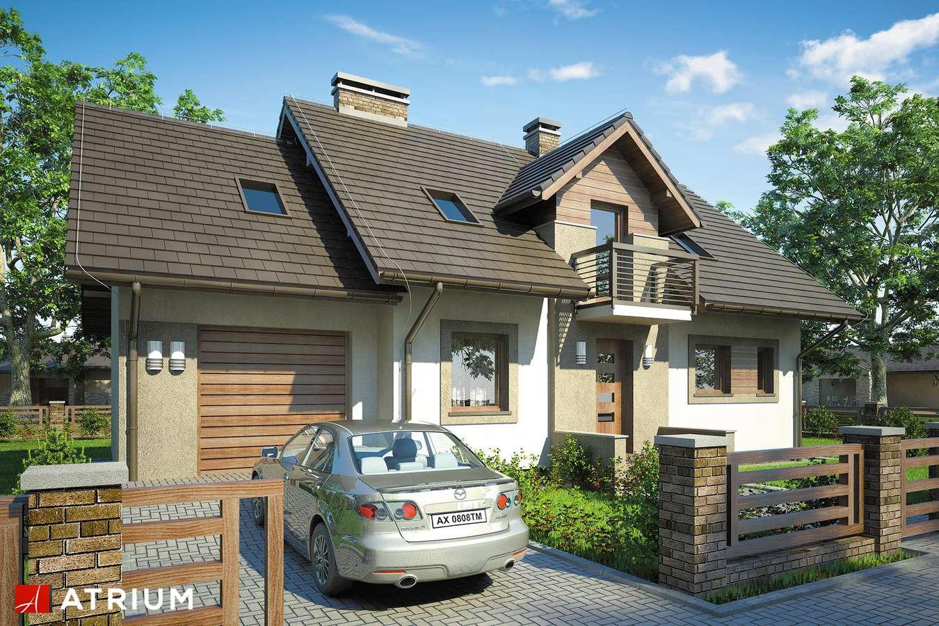 Projekty domów - Projekt domu z poddaszem ASTRA - wizualizacja 1