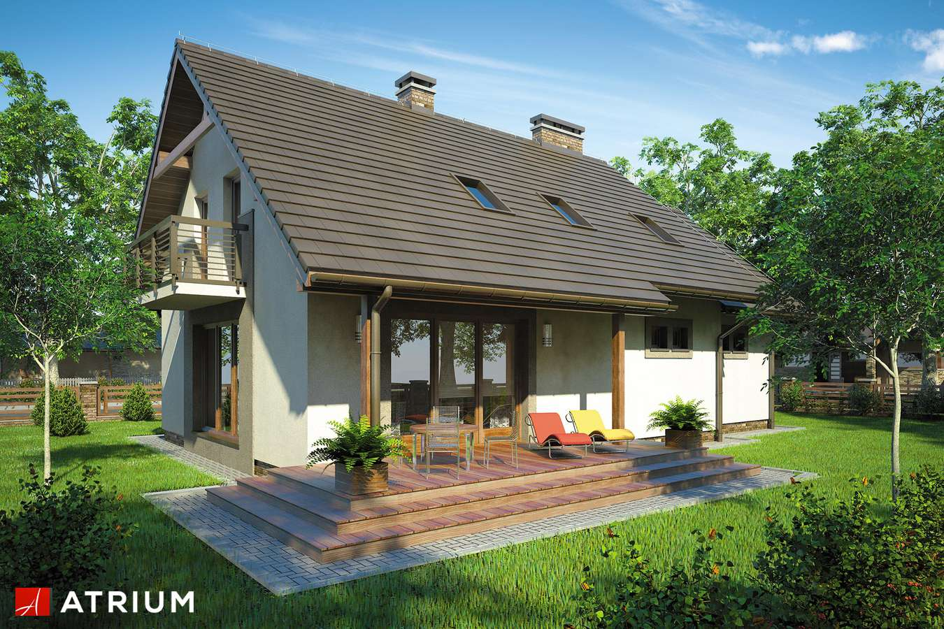 Projekty domów - Projekt domu z poddaszem ASTRA - wizualizacja 2