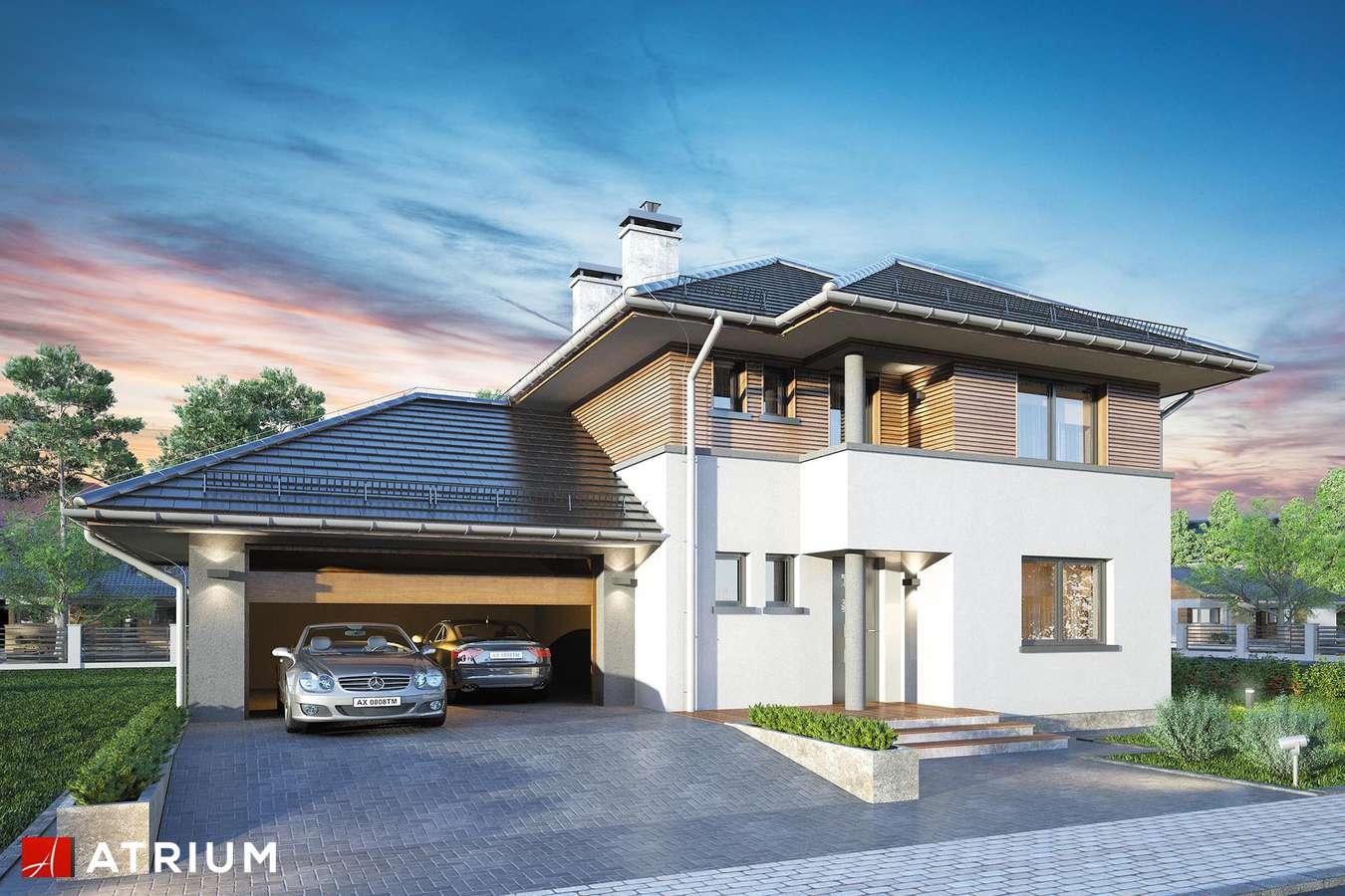 Projekty domów - Projekt domu piętrowego FIGARO - wizualizacja 1 - wersja lustrzana