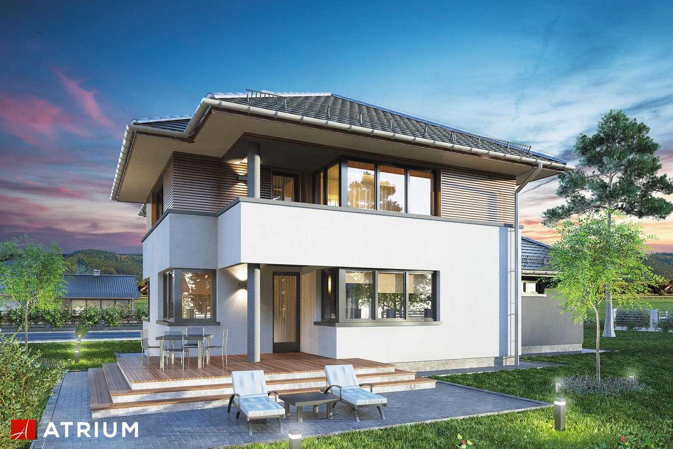 Projekty domów - Projekt domu piętrowego FIGARO - wizualizacja 2 - wersja lustrzana
