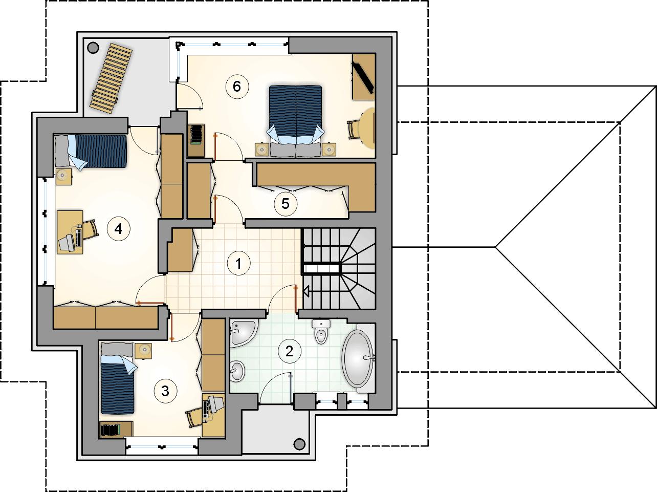 Rzut piętra - projekt Figaro