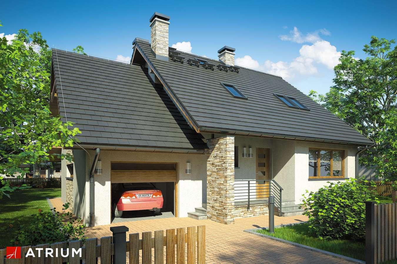 Projekty domów - Projekt domu z poddaszem KARMEL - wizualizacja 1