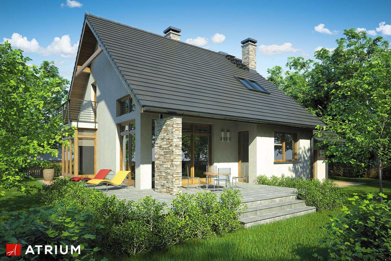 Projekty domów - Projekt domu z poddaszem KARMEL - wizualizacja 2