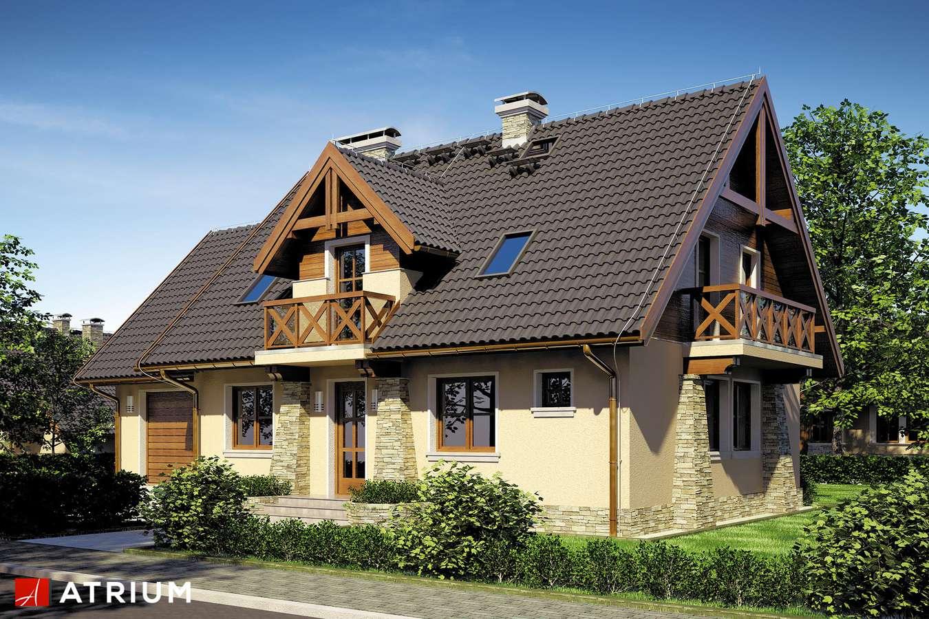 Projekty domów - Projekt domu z poddaszem PIAST - wizualizacja 1