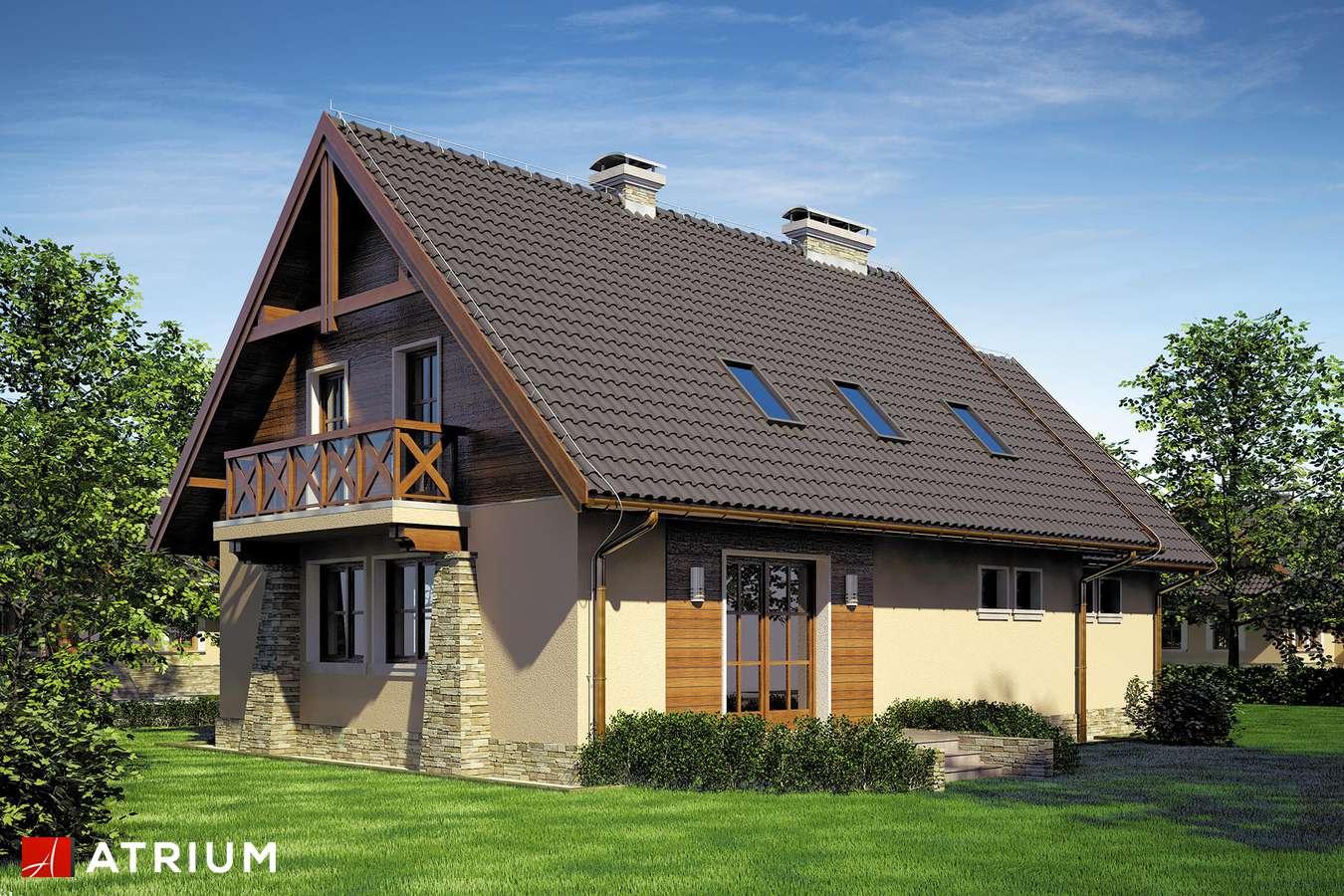 Projekty domów - Projekt domu z poddaszem PIAST - wizualizacja 2