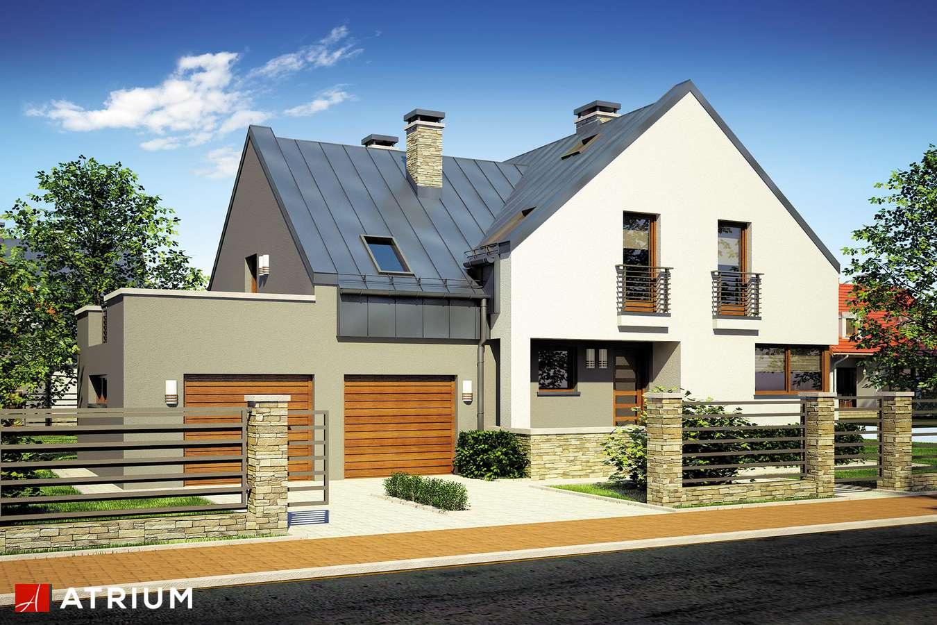 Projekty domów - Projekt domu z poddaszem MICHAł - wizualizacja 1