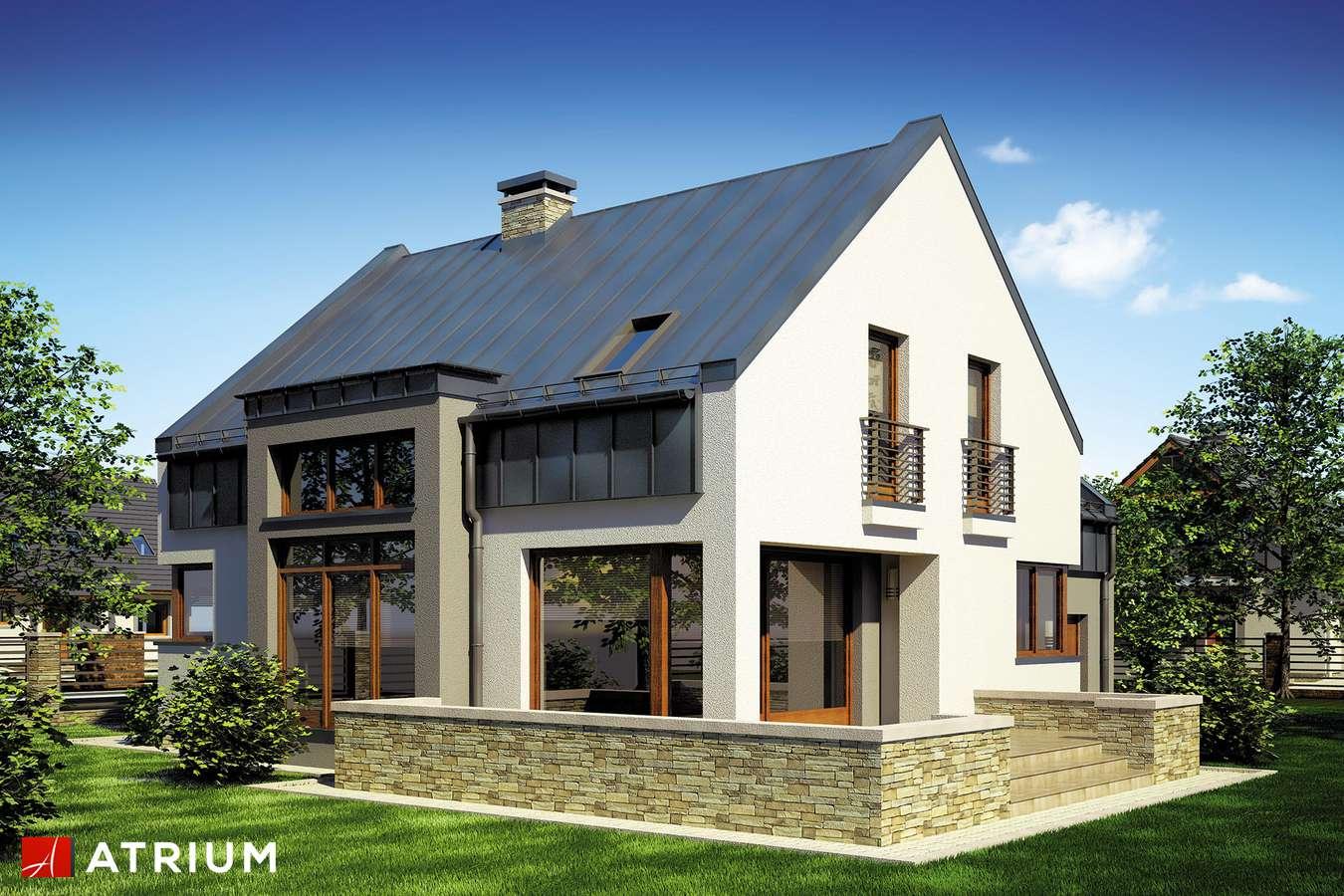 Projekty domów - Projekt domu z poddaszem MICHAł - wizualizacja 2