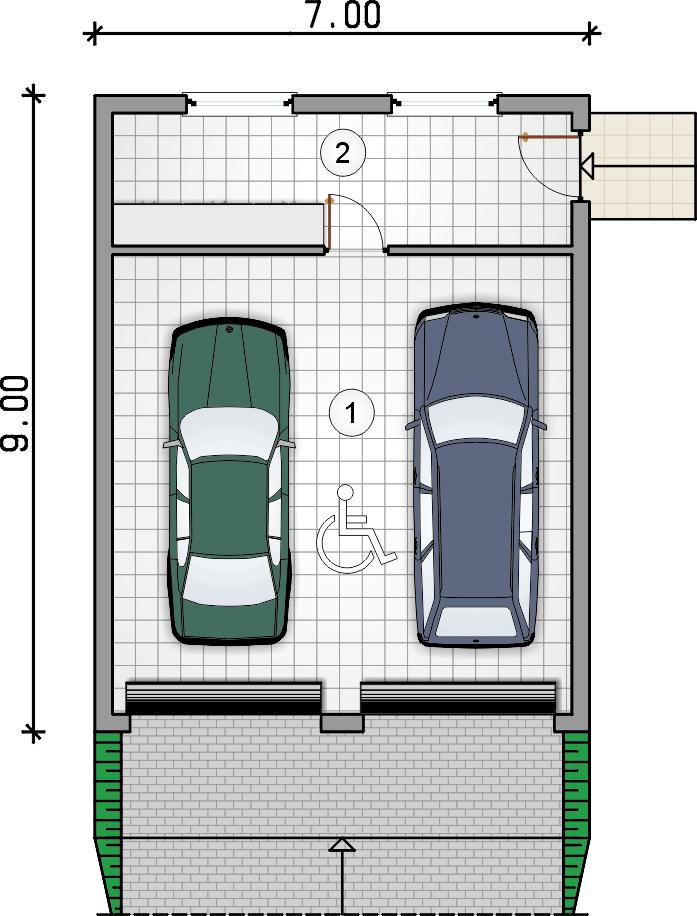 rzut garażu - Garaż Z 36