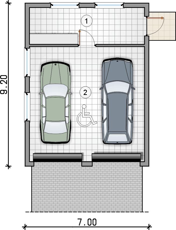 rzut garażu - Garaż Z 37