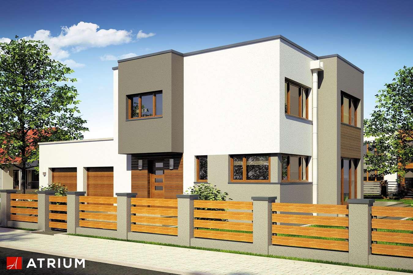 Projekty domów - Projekt domu piętrowego BETA - wizualizacja 1 - wersja lustrzana