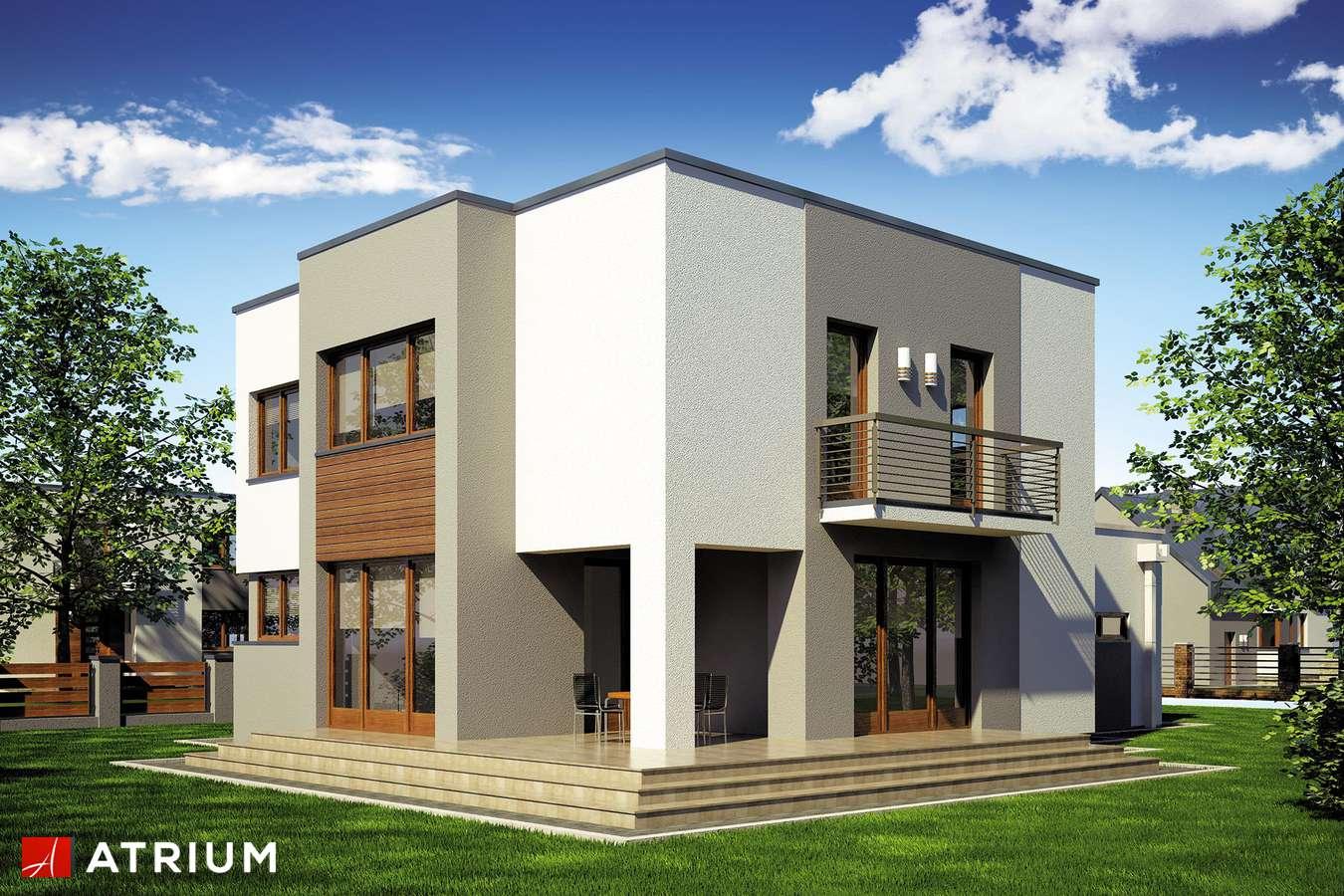 Projekty domów - Projekt domu piętrowego BETA - wizualizacja 2 - wersja lustrzana
