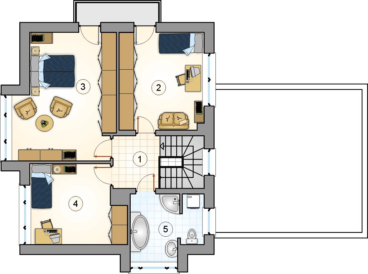 Rzut piętra - projekt Beta