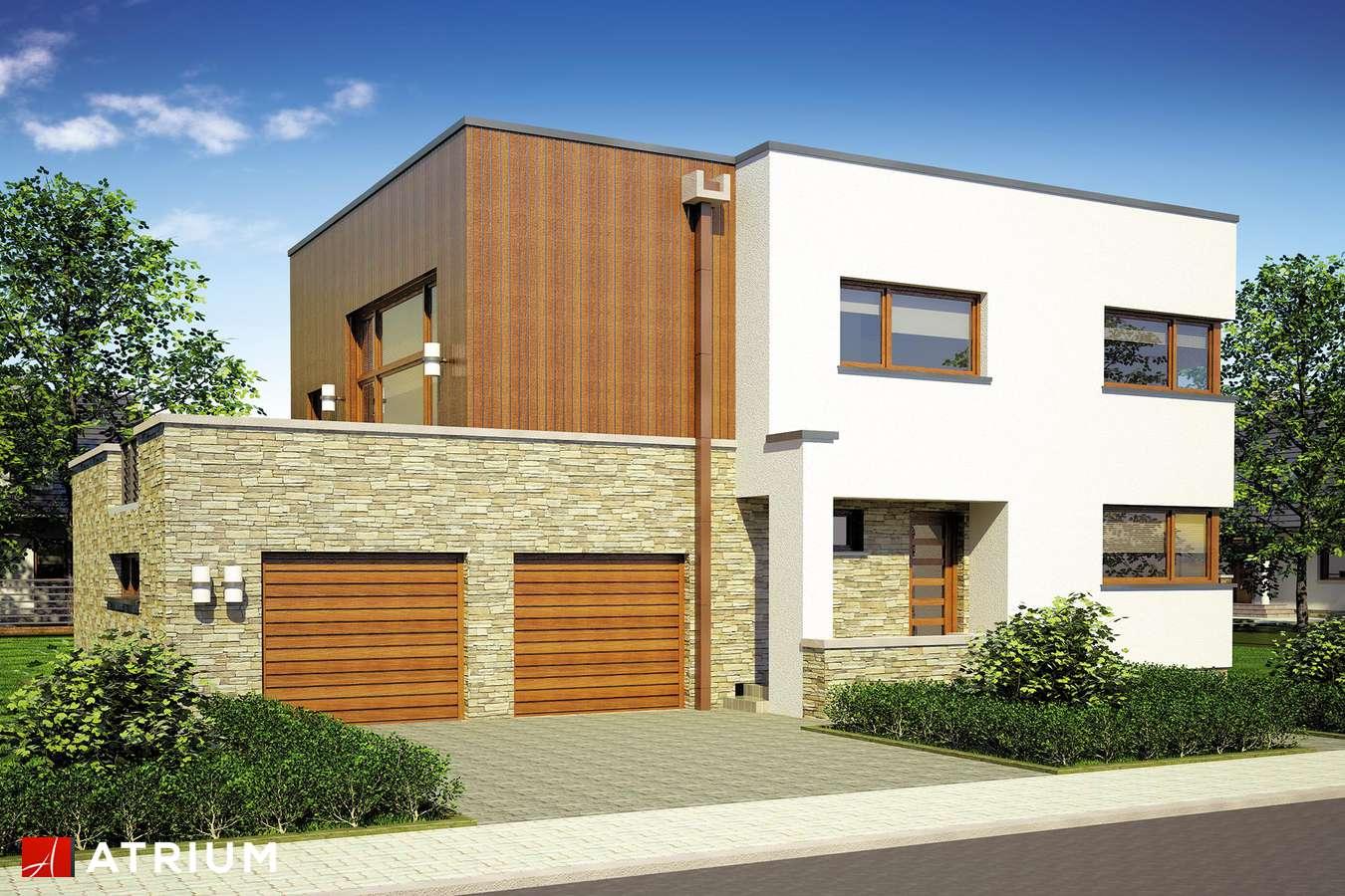 Projekty domów - Projekt domu piętrowego CYNAMON - wizualizacja 1