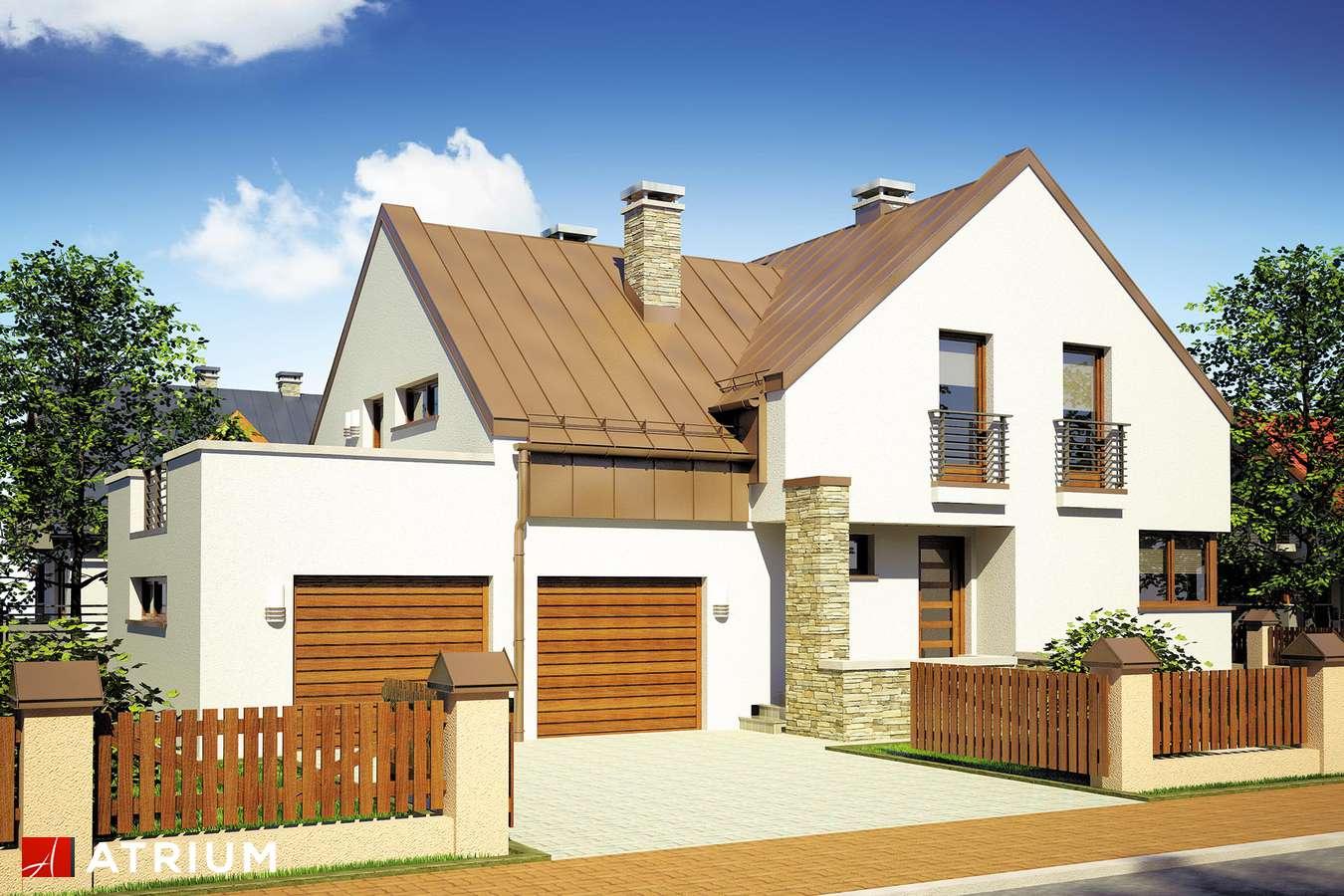 Projekty domów - Projekt domu z poddaszem MANGO - wizualizacja 1