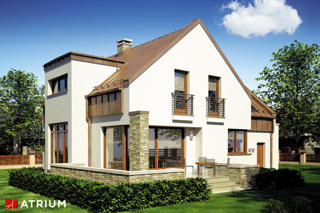 Projekty domów - Projekt domu z poddaszem MANGO - wizualizacja 2