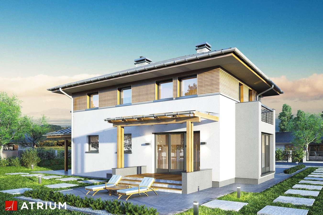 Projekty domów - Projekt domu piętrowego SIENA II - wizualizacja 1 - wersja lustrzana