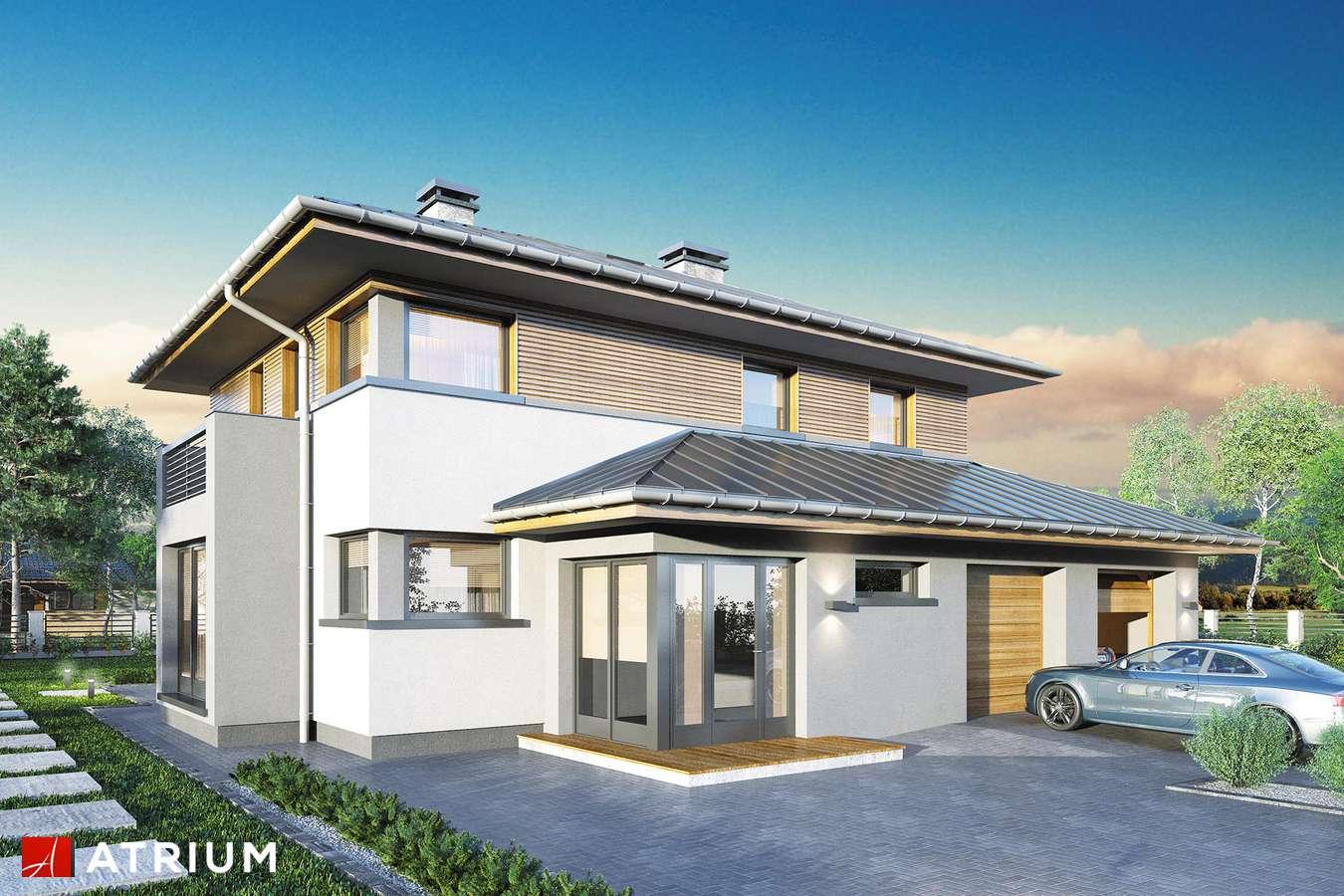 Projekty domów - Projekt domu piętrowego SIENA II - wizualizacja 2 - wersja lustrzana