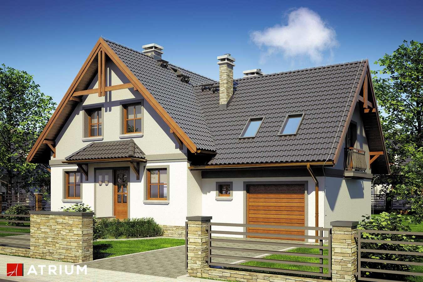 Projekt domu z poddaszem DRACENA - wizualizacja 1