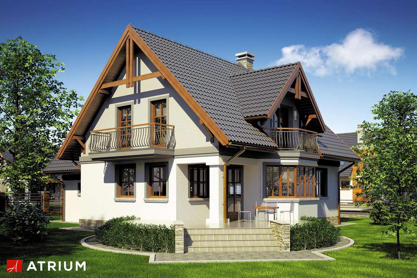 Projekt domu z poddaszem DRACENA - wizualizacja 2