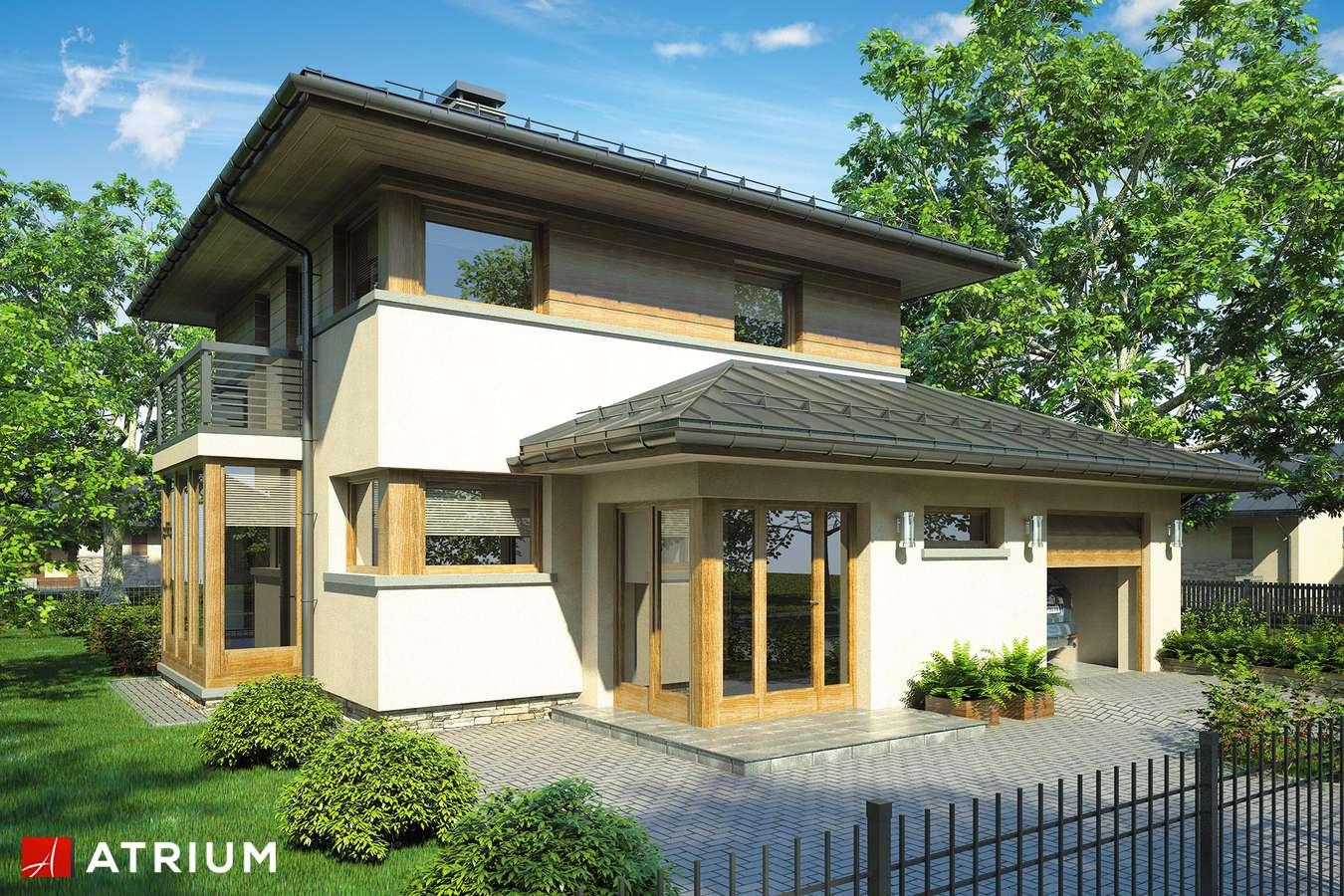 Projekty domów - Projekt domu piętrowego SIENA - wizualizacja 1 - wersja lustrzana