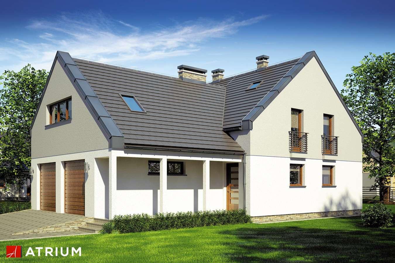 Projekty domów - Projekt domu z poddaszem STELLA II - wizualizacja 1 - wersja lustrzana