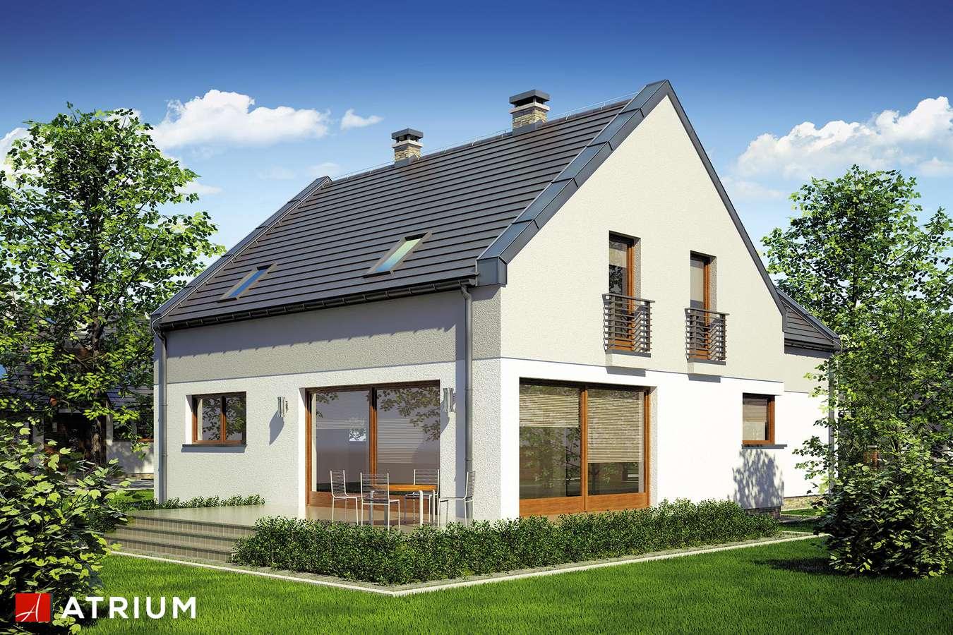 Projekty domów - Projekt domu z poddaszem STELLA II - wizualizacja 2 - wersja lustrzana