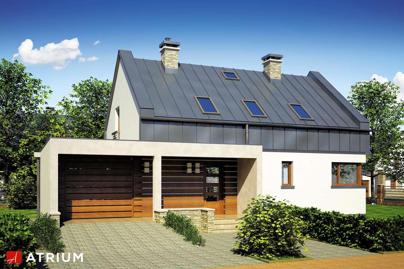 Projekt domu z poddaszem RUMBA - wizualizacja 1