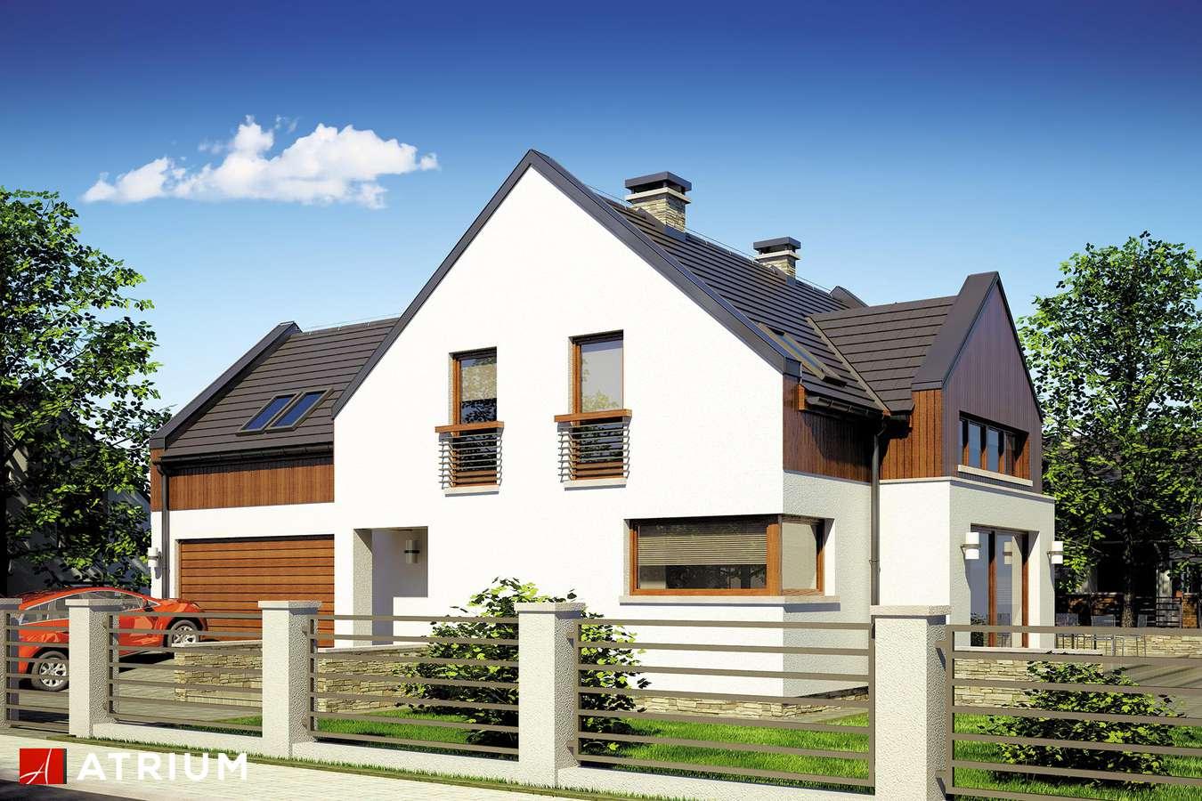 Projekty domów - Projekt domu z poddaszem SWING - wizualizacja 1 - wersja lustrzana