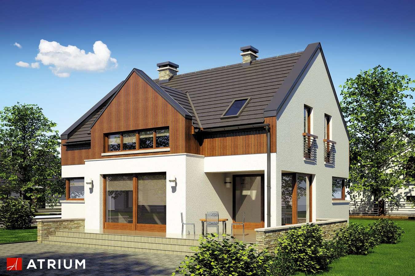 Projekty domów - Projekt domu z poddaszem SWING - wizualizacja 2 - wersja lustrzana