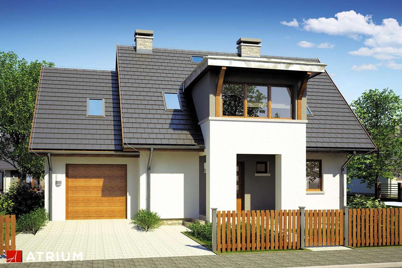 Projekty domów - Projekt domu z poddaszem NAVI - wizualizacja 1