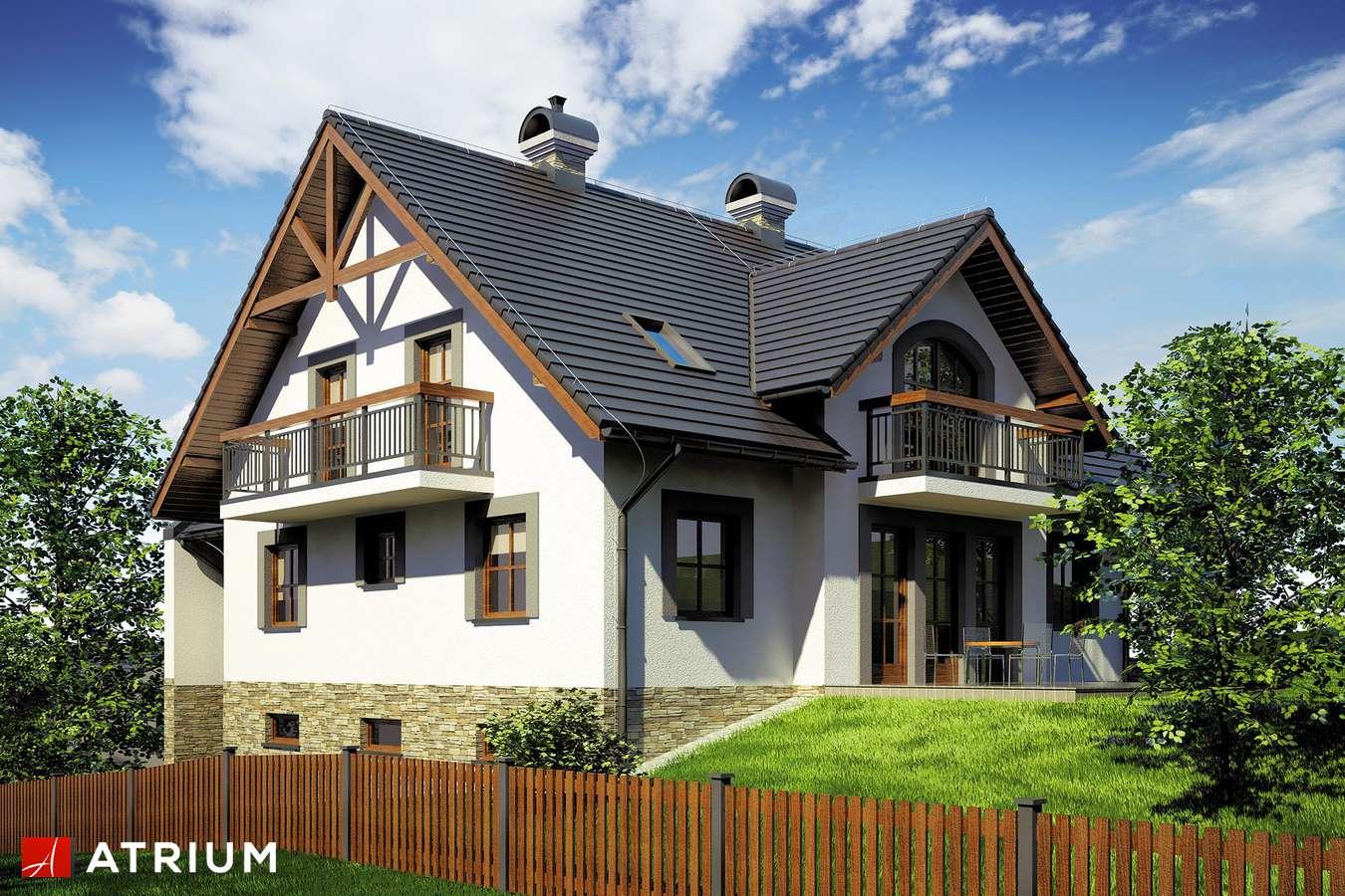 Projekty domów - Projekt domu z poddaszem WILLA NA SKARPIE - wizualizacja 1