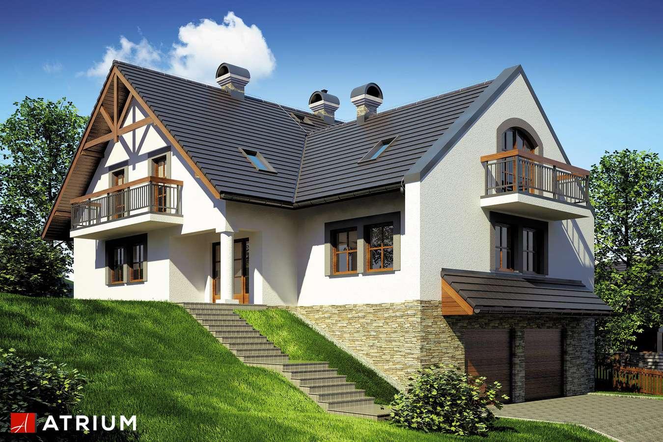Projekty domów - Projekt domu z poddaszem WILLA NA SKARPIE - wizualizacja 2