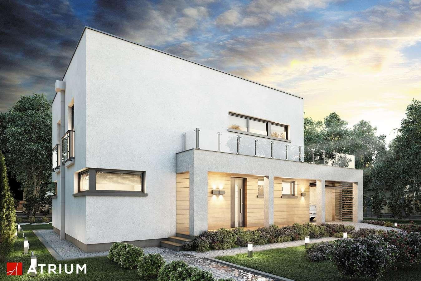 Projekty domów - Projekt domu piętrowego QUBUS II - wizualizacja 1 - wersja lustrzana